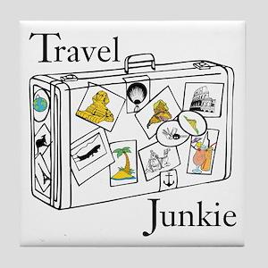 Travel Junkie Tile Coaster