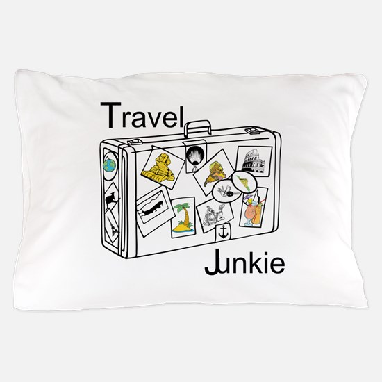 Travel Junkie Pillow Case