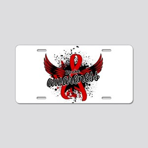 Stroke Awareness 16 Aluminum License Plate