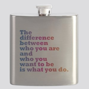 The Difference (blue/pink) Flask