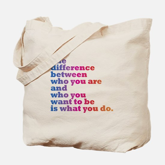 The Difference (blue/pink) Tote Bag