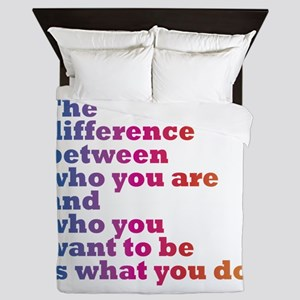 The Difference (blue/pink) Queen Duvet