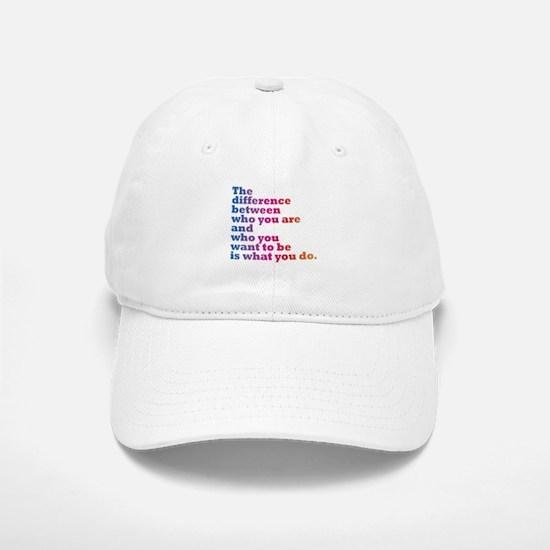 The Difference (blue/pink) Baseball Baseball Cap