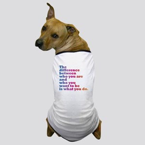 The Difference (blue/pink) Dog T-Shirt