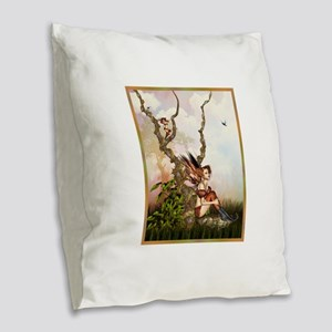 Best Seller fairy Burlap Throw Pillow