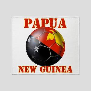 Papua New Guinea Football Throw Blanket