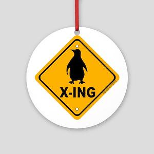 Penguin X-ing Ornament (Round)