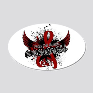 Sickle Cell Anemia Awareness 20x12 Oval Wall Decal
