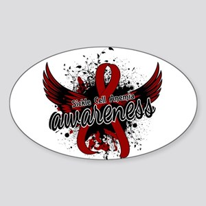 Sickle Cell Anemia Awareness 16 Sticker (Oval)