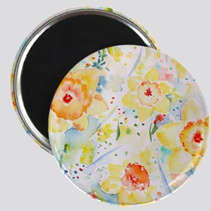 Watercolor Daffodils Pattern Magnet