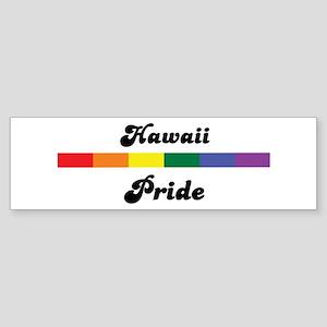Hawaii pride Bumper Sticker