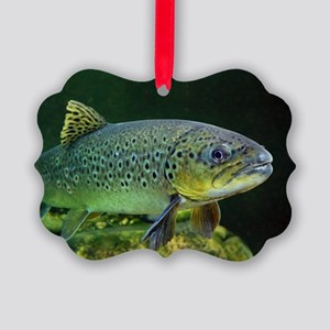 BROWN TROUT Picture Ornament