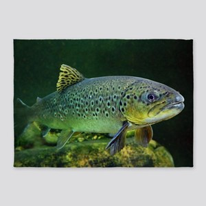 BROWN TROUT 5'x7'Area Rug