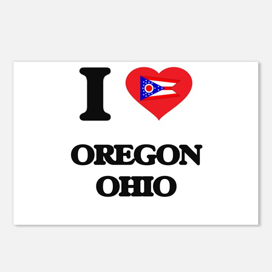 I love Oregon Ohio Postcards (Package of 8)