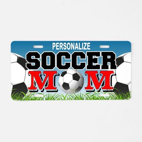 Soccer Mom Custom Aluminum License Plate