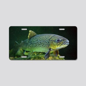 BROWN TROUT Aluminum License Plate
