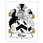 Rhys Family Crest Small Poster
