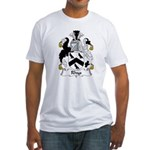 Rhys Family Crest  Fitted T-Shirt