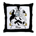 Rhys Family Crest Throw Pillow