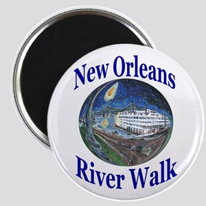 """Starry Night Riverboat 2.25"""" Magnet (10 pack)"""