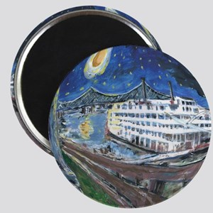 Starry Night Riverboat Magnet