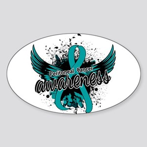 Peritoneal Cancer Awareness 16 Sticker (Oval)