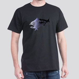 Blue Chrome Retro Tuna. Fish Retro Tuna R T-Shirt