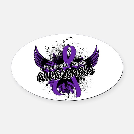 Pancreatic Cancer Awareness 16 Oval Car Magnet
