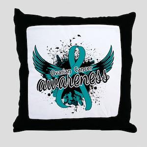 Ovarian Cancer Awareness 16 Throw Pillow