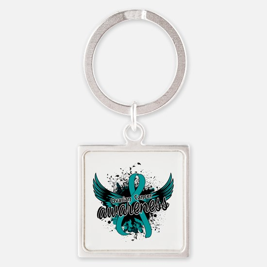 Ovarian Cancer Awareness 16 Square Keychain