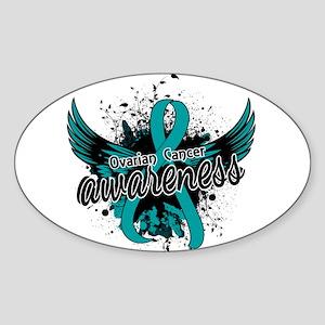 Ovarian Cancer Awareness 16 Sticker (Oval)
