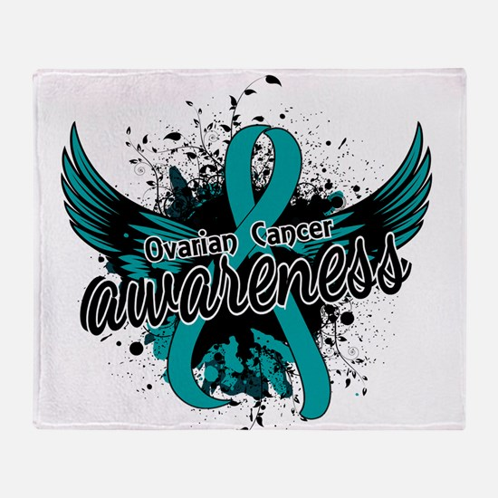 Ovarian Cancer Awareness 16 Throw Blanket