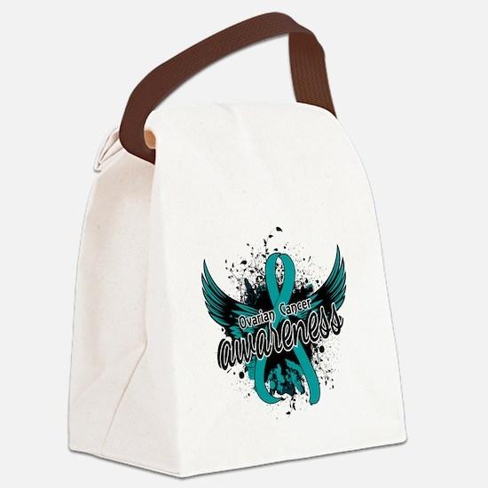 Ovarian Cancer Awareness 16 Canvas Lunch Bag