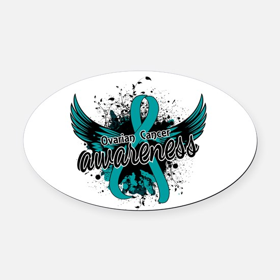 Ovarian Cancer Awareness 16 Oval Car Magnet