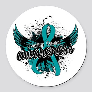 Ovarian Cancer Awareness 16 Round Car Magnet