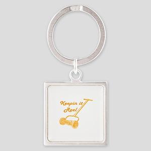 Reel Mower Square Keychain