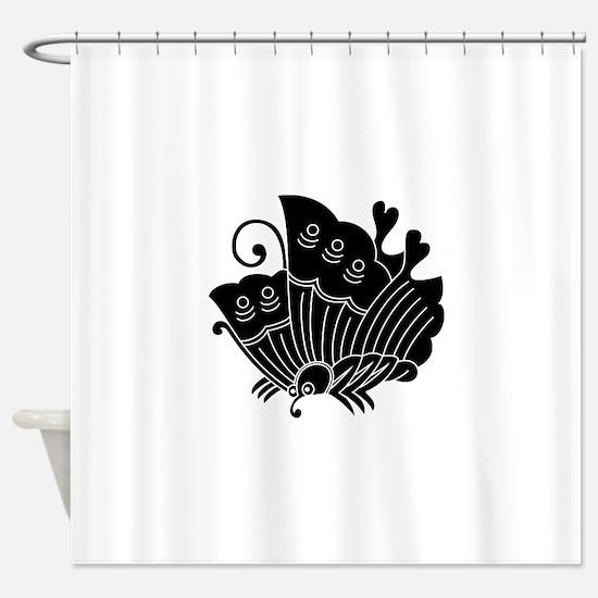 Ageha Butterfly Shower Curtain