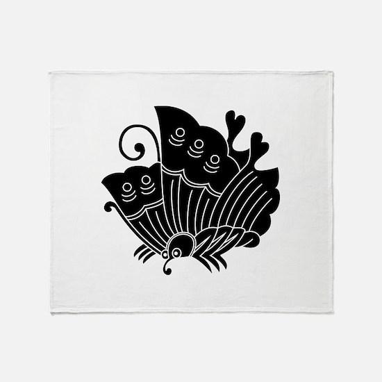 Ageha Butterfly Throw Blanket