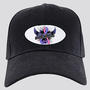 Male Breast Cancer Awareness 16 Black Cap
