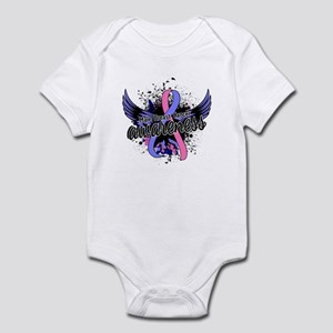 Male Breast Cancer Awareness 16 Infant Bodysuit