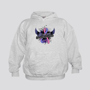 Male Breast Cancer Awareness 16 Kids Hoodie