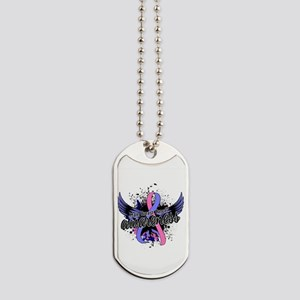 Male Breast Cancer Awareness 16 Dog Tags