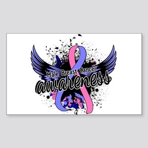 Male Breast Cancer Awareness 1 Sticker (Rectangle)