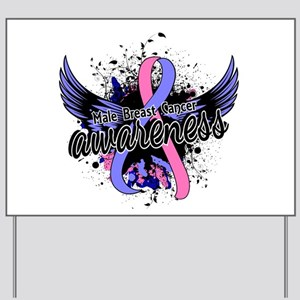 Male Breast Cancer Awareness 16 Yard Sign