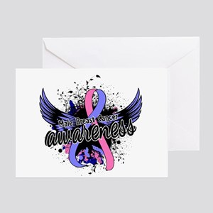 Male Breast Cancer Awareness 16 Greeting Card