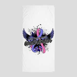 Male Breast Cancer Awareness 16 Beach Towel