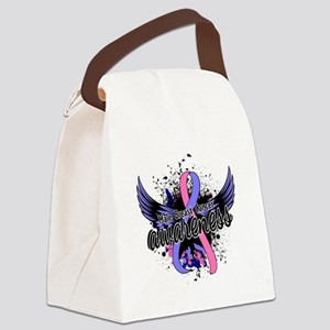 Male Breast Cancer Awareness 16 Canvas Lunch Bag