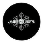 Maine 2015 Winter Round Car Magnet