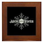 Maine 2015 Winter Framed Tile