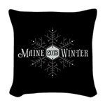 Maine 2015 Winter Woven Throw Pillow